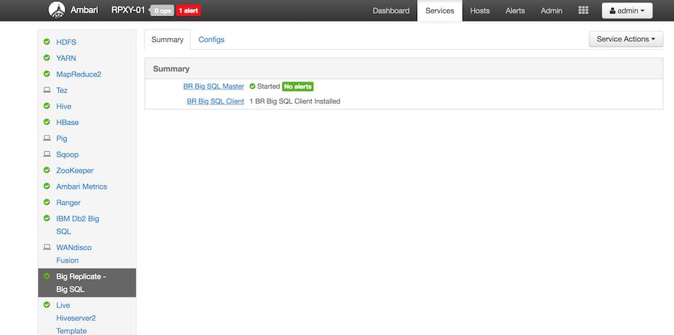 IBM Big Replicate Plugin for Db2 Big SQL