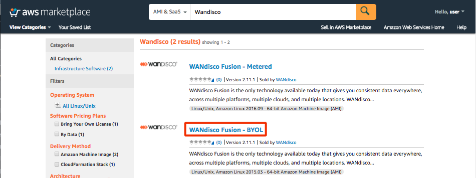 WANdisco WANdisco Fusion with AWS Launch Guide