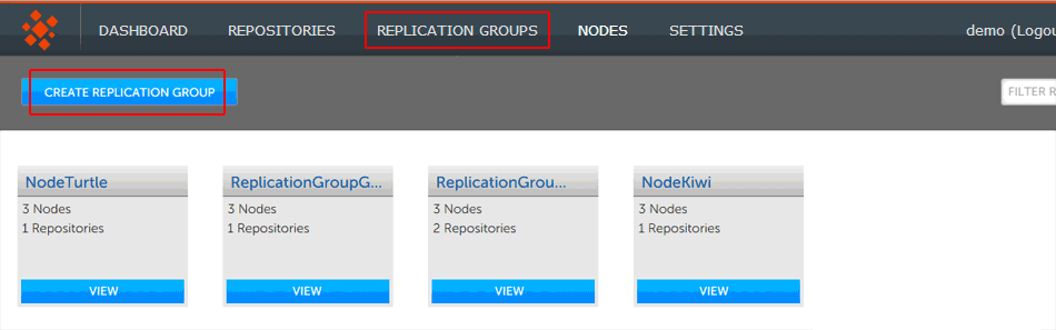Create the repo group